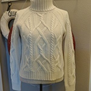 Sundance Wool Blend Chunky Cable Mariners Sweater